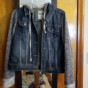 Denim Jacket w/ contrasting Arms and Hood